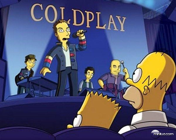 Coldplay no seriado Os Simpsons