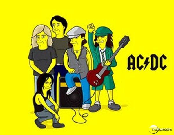 AC/DC no seriado Os Simpsons