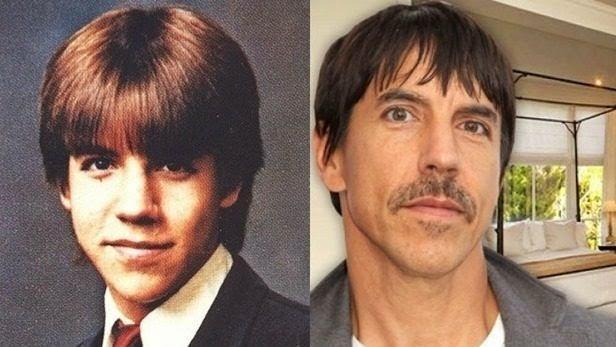 famosos quando eram crianças Anthony Kiedis criança Rock na Veia