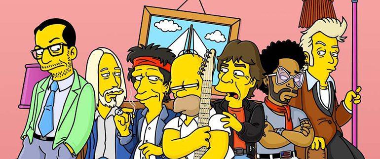 Astros do rock que já apareceram nos Simpsons