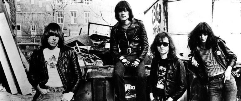 Ramones com sua formação original, Jhonny, Dee Dee, Tommy e Joey