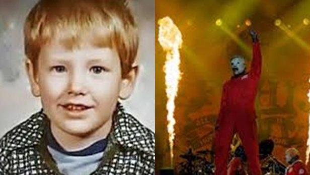 famosos quando eram crianças Corey Taylor criança Rock na Veia