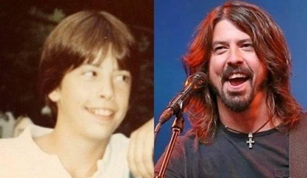 famosos quando eram crianças Dave Grohl criança Rock na Veia