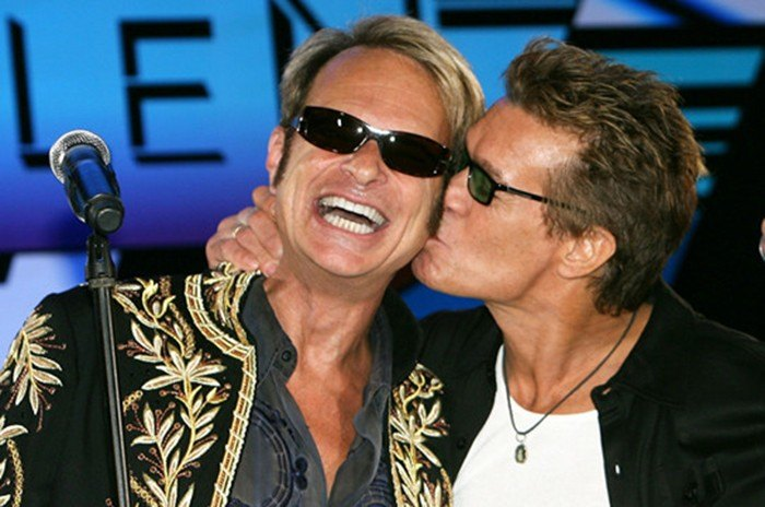 Duplas do rock Eddie Van Halen e David Lee Roth Rock na Veia