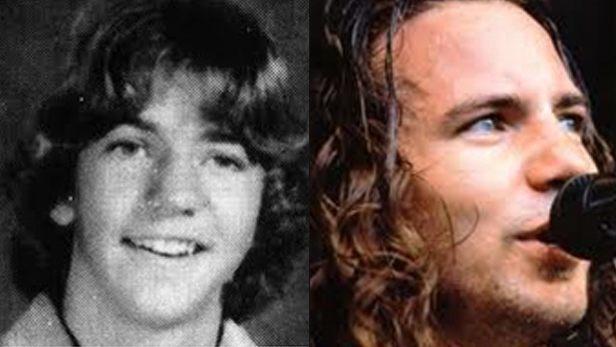 famosos quando eram crianças Eddy Vedder criança Rock na Veia