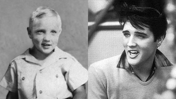 famosos quando eram crianças Elvis Presley criança Rock na Veia