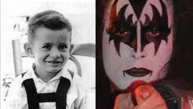 famosos quando eram crianças Gene Simmons criança Rock na Veia