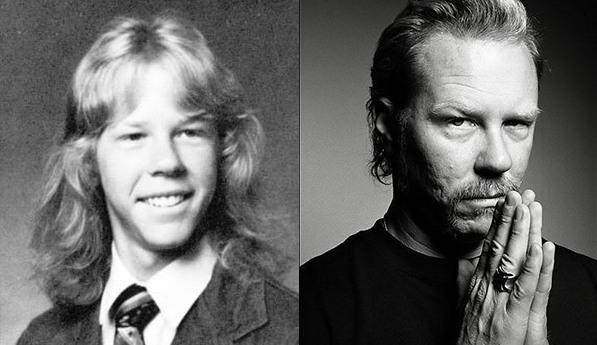 famosos quando eram crianças james criança Rock na Veia