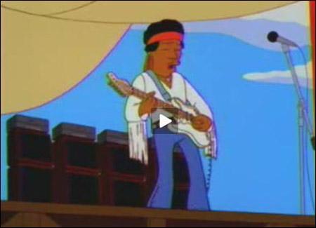 Jimi Hendrix no seriado Os Simpsons
