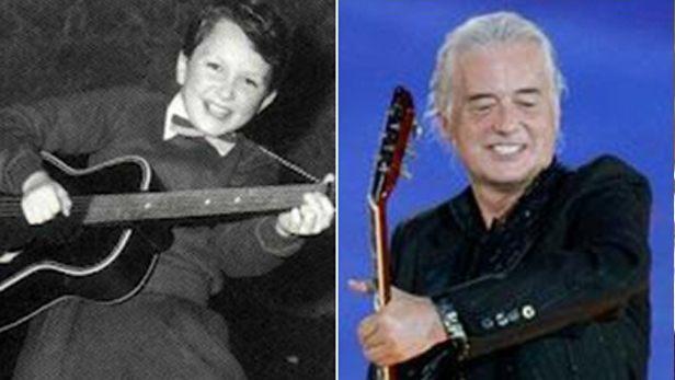 famosos quando eram crianças Jimmy Page criança Rock na Veia