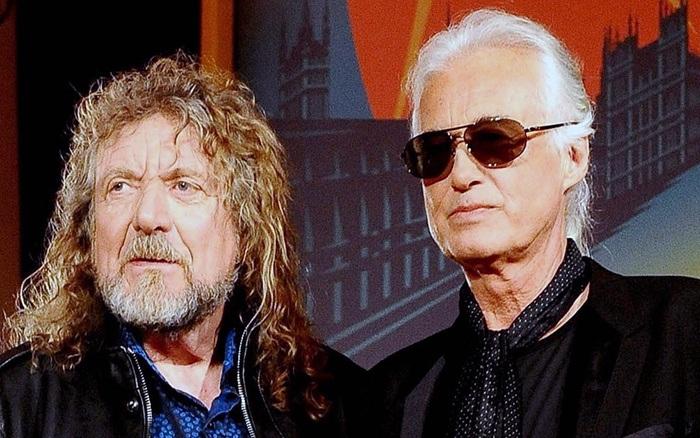 Duplas do rock Jimmy page e Robert plant Rock na Veia