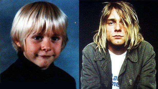 famosos quando eram crianças kurt Cobain-Criança Rock na Veia
