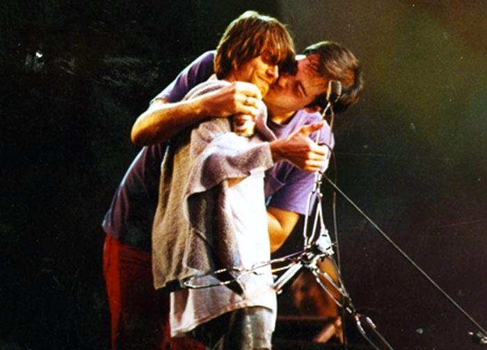 Duplas do rock Kurt Cobain e Krist Novoselic Rock na Veia
