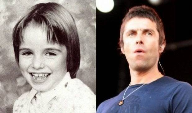 famosos quando eram crianças Liam Gallagher criança Rock na Veia