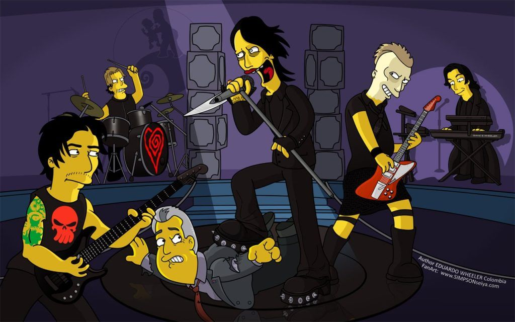 Marilyn Manson no seriado Os Simpsons