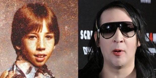 famosos quando eram crianças Marilyn Manson criança Rock na Veia