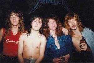 Metallica com sua formação inicial ainda com Dave Mustaine