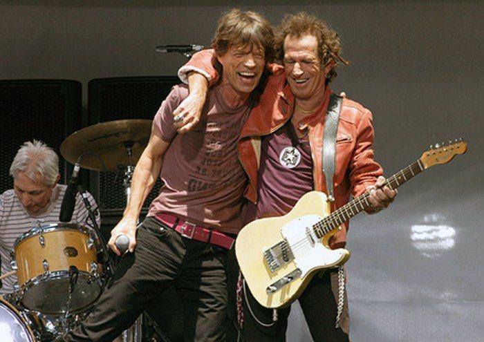 Duplas do rock Mick jagger e Keith Richards Rock na Veia