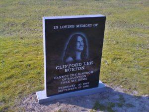 Lapide de Cliff Burton