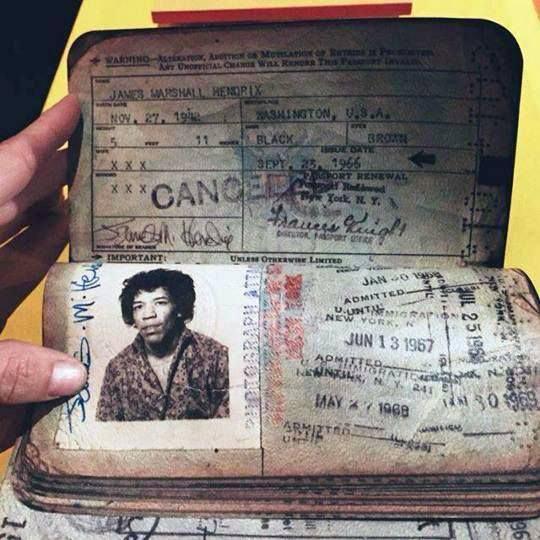 passaporte de famosos jimi hendrix rock na veia