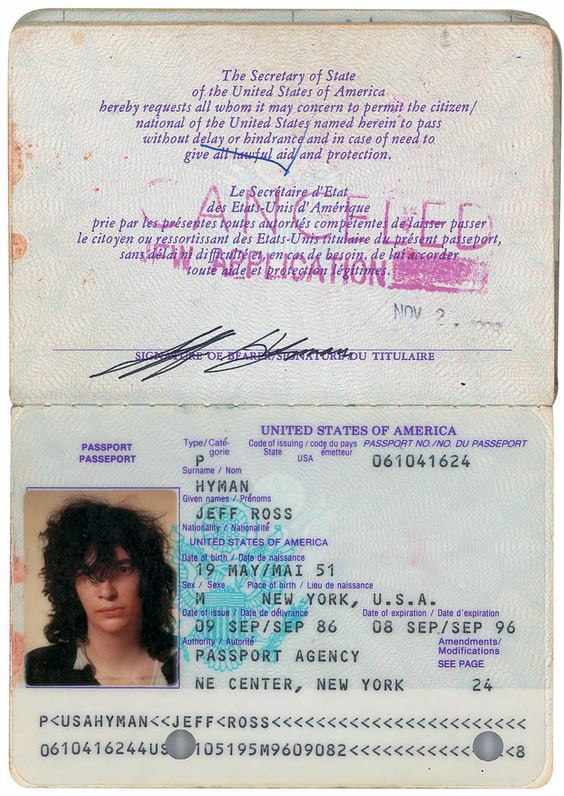 passaporte de famosos joey ramone rock na veia