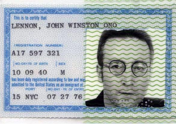 passaporte de famosos john lennon rock na veia
