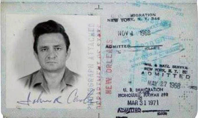 passaporte de famosos johnny cash rock na veia