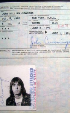 passaporte de famosos johnny ramone rock na veia