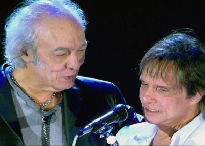 Duplas do rock Roberto Carlos e Eramos Carlos Rock na Veia