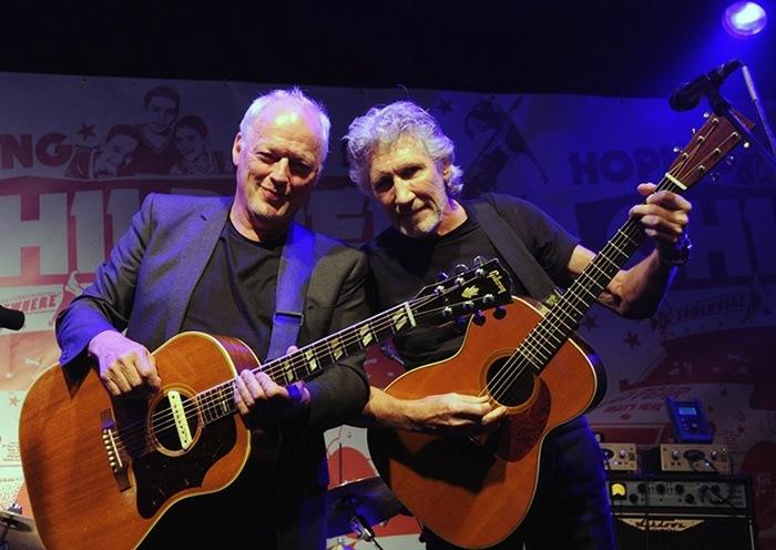 Duplas do rock Roger Waters e David Gilmour Rock na Veia
