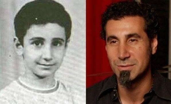 famosos quando eram crianças Serj Tankian criança Rock na Veia