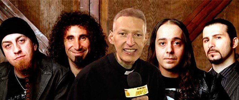 e se padre marcelo cantasse system of a down rock na veia