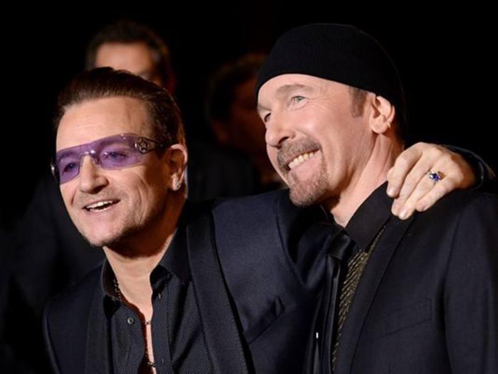 Duplas do rock The Edge e Bono Rock na Veia