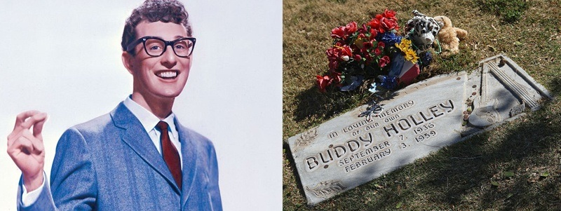 túmulos de famosos do rock túmulo de Buddy Holly Rock na Veia