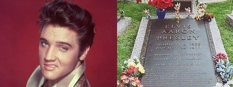 túmulos de famosos do rock túmulo de Elvis Presley Rock na Veia
