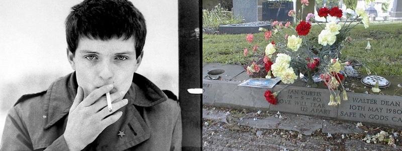 túmulos de famosos do rock túmulo de Ian Curtis Rock na Veia