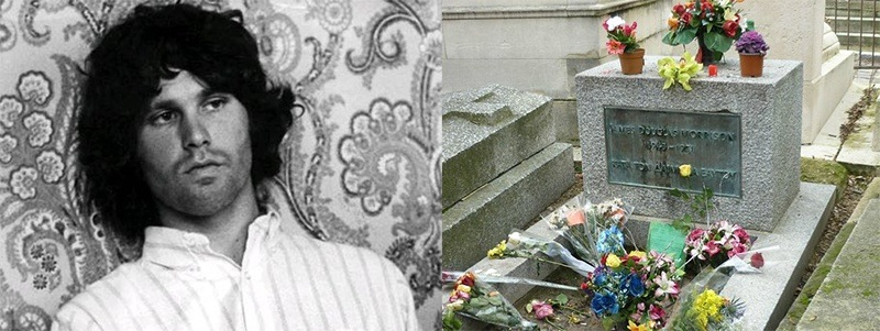 túmulos de famosos do rock túmulo de Jim Morrison em Paris Rock na Veia
