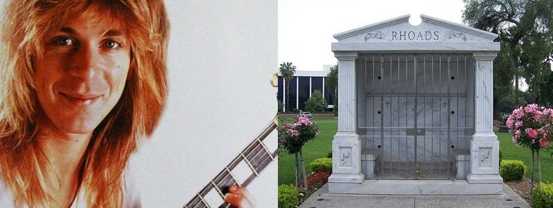 túmulos de famosos do rock túmulo de Randy Rhoads Rock na Veia