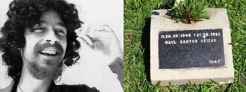 túmulos de famosos do rock túmulo de Raul Seixas Rock na Veia